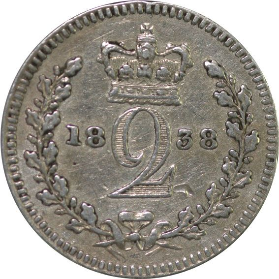 1838 Victoria Silver Twopence
