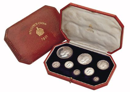 1911 British Silver Coronation Proof Set