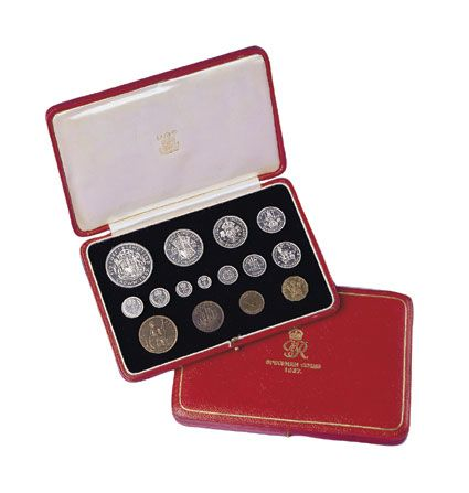 1937 George VI British Silver Proof Set