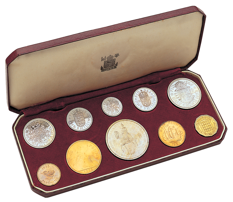 1953 Queen Elizabeth Coronation Proof Set from the Royal Mint