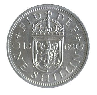 1962 Elizabeth II Scottish Shilling