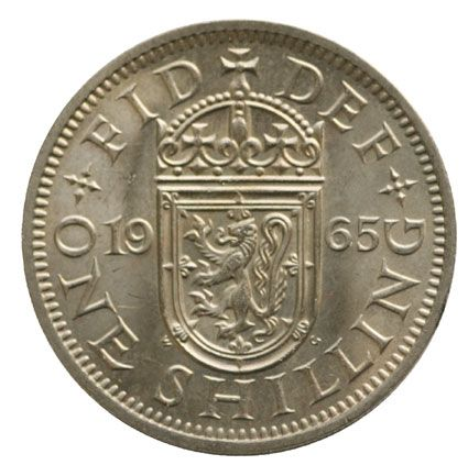 1965 Elizabeth II Scottish Shilling