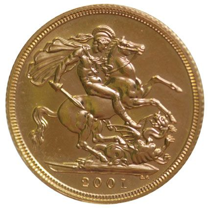 2001 Gold Half Sovereigns