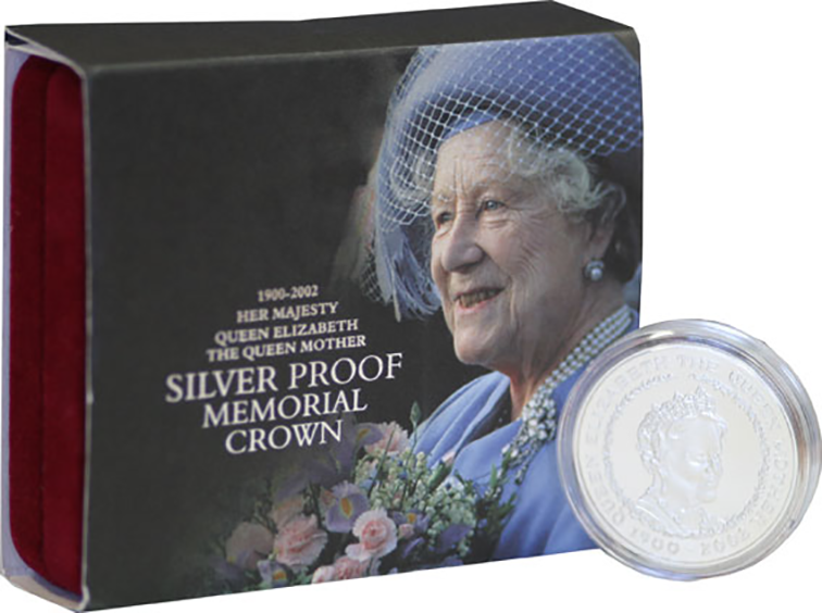 2002 Royal Mint Silver Proof Five Pound Memorial Crown