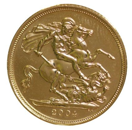2004 Gold Half Sovereigns