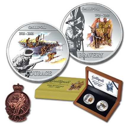 2005 Gallipoli Anniversary Double Dollar Silver Set