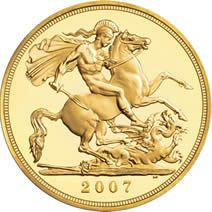 2007 Gold Half Sovereigns