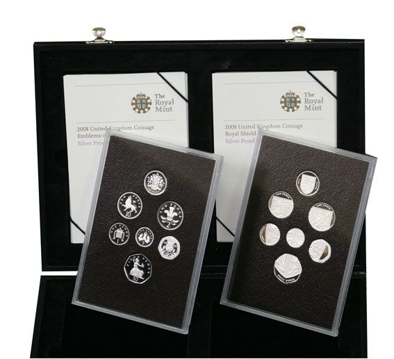 2008 Silver Proof Emblem & Shield Double Set