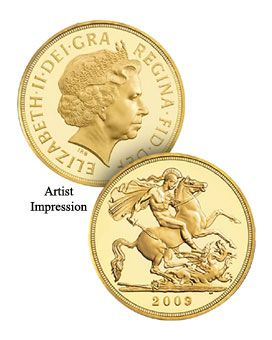 2009 Gold Half Sovereigns