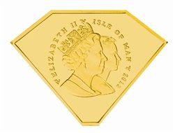 2012 I.O.M Gold Diamond Shaped Coin 1/10th Gold