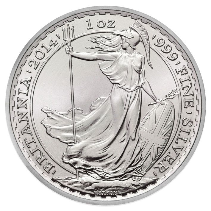 2014 Silver 1oz Britannia With Horse Privy Mark