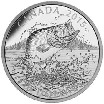 2015 Canadian 1oz Proof Silver American Sportfish 20 Dollars