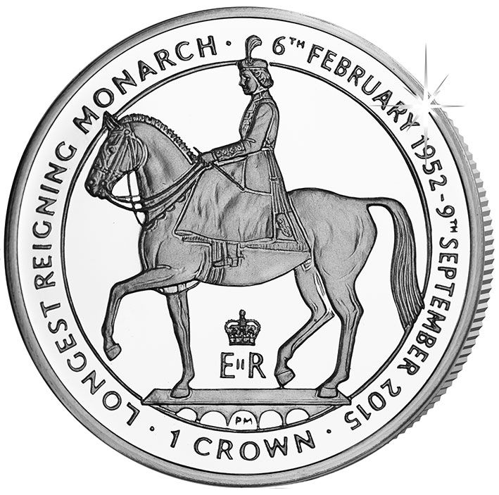 2015 I.O.M Queen Elizabeth II Longest Reign Crown