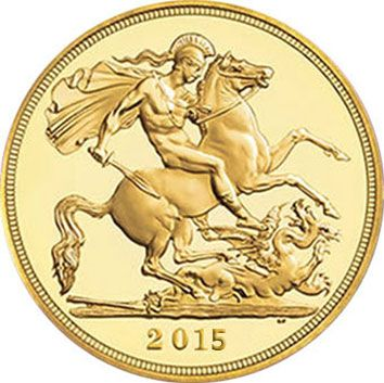 2015 Royal Mint Gold Bullion Sovereign