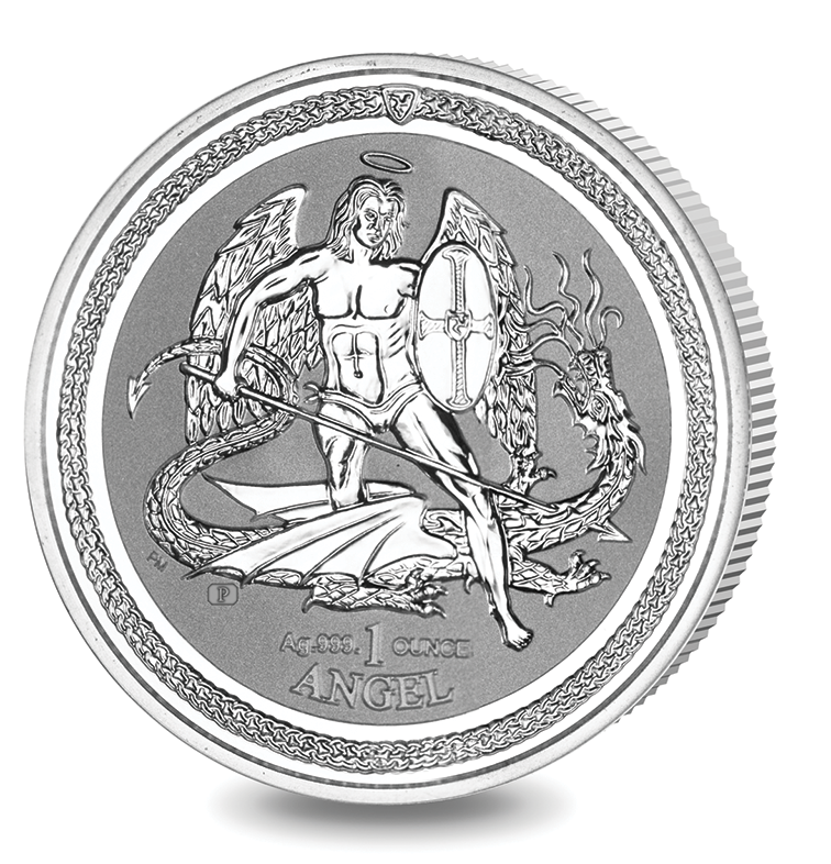 2016 1oz Silver Angel with reverse proof finish