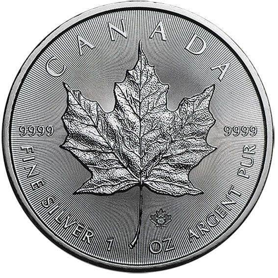 2016 Canadian Silver 1oz Maple Leaf Coin