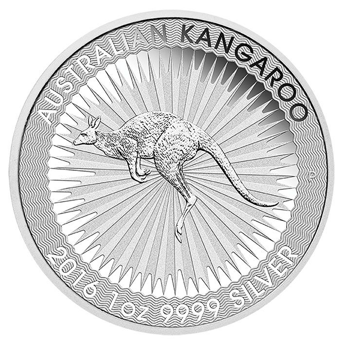 2016 Silver 1oz Australian Kangaroo from the Perth Mint