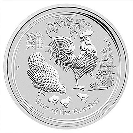 2017 Perth Mint 1oz Silver Year of the Rooster