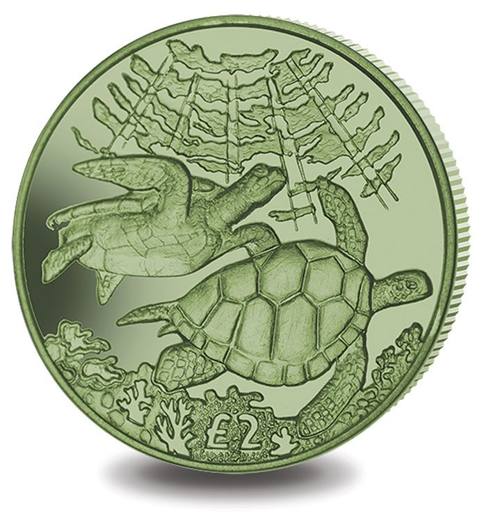 2017 Titanium Green Turtle from British Indian Ocean Territory