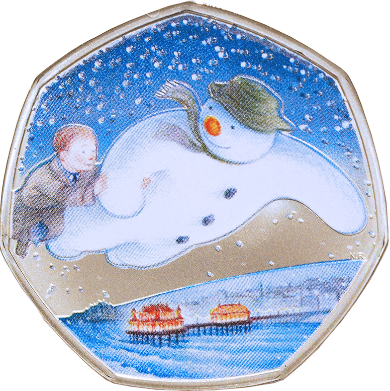 2018 Royal Mint Snowman 50p