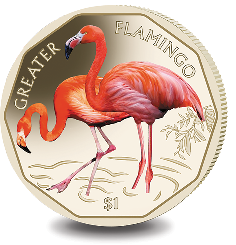2019 BVI Greater $1 Flamingo