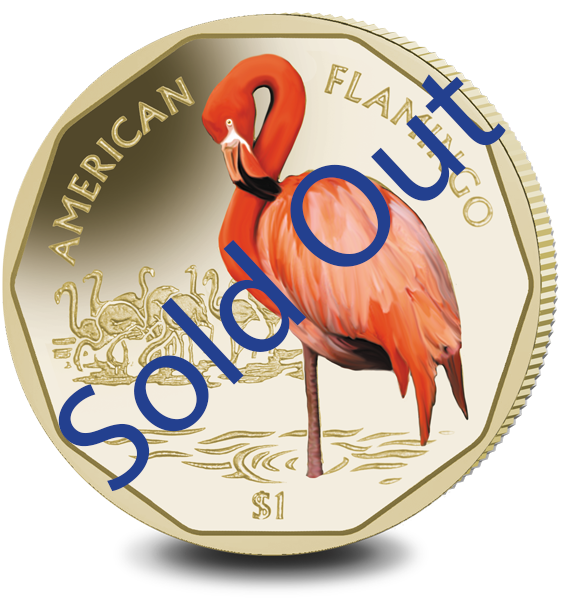 2019 Coloured Flamingo $1 Virenium Coin