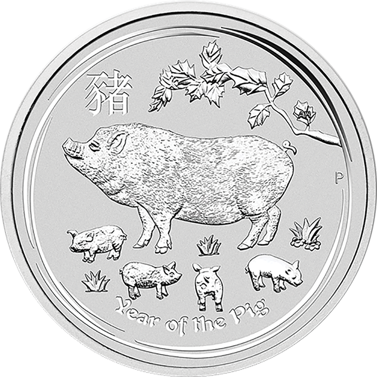 2019 Silver 1oz  Perth Mint year of the Pig
