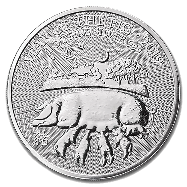 2019 Silver 1oz Year of the Pig