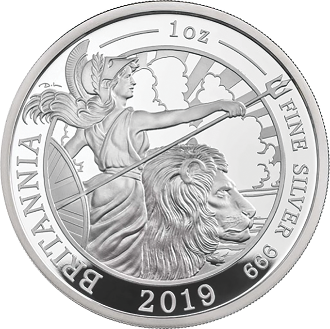 2019 Silver Proof one ounce Britannia