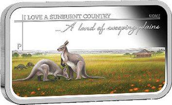 Australian 'A land of sweeping plains' 1oz Silver Bar