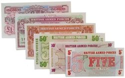 British Arm Forces set of  Six Sterling Banknotes