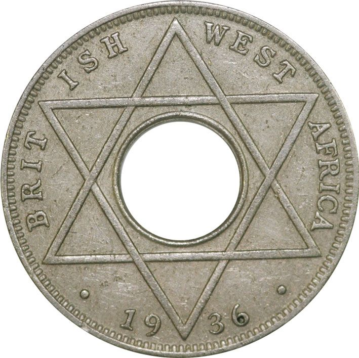British West Africa 1/10th Penny of Edward VIII 1936