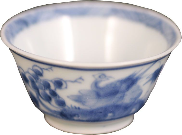 Ca Mau Two Pheasants Teabowl