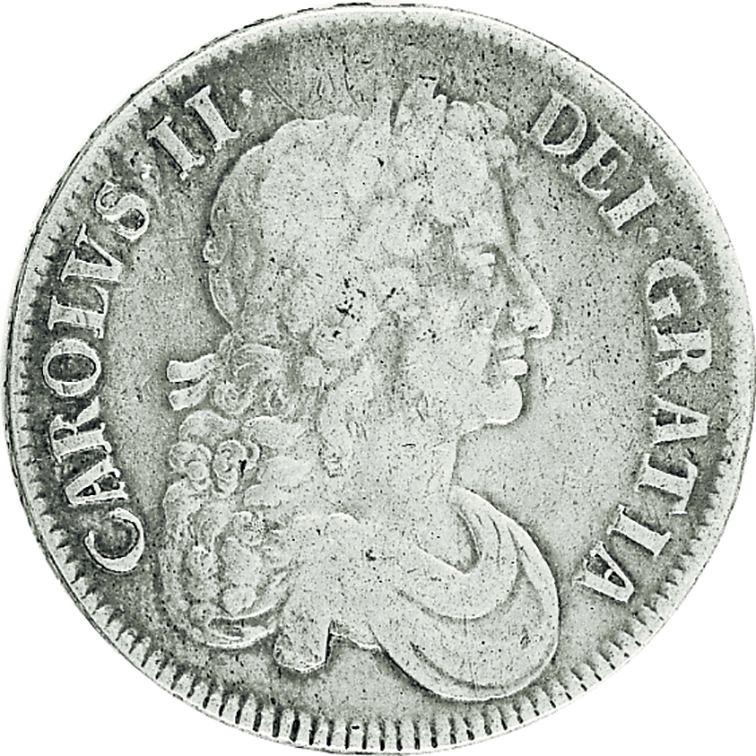 Charles II Silver Crown 1660-1685 in Fine Condition
