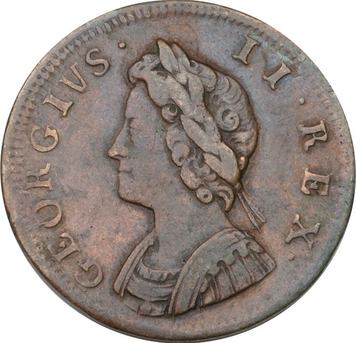 George II Copper Farthing VF 1730-54