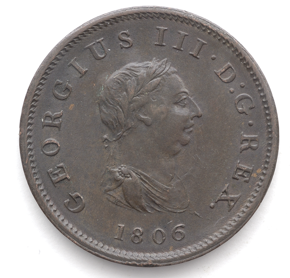 George III 1806/07 4th Issue Penny In VF Condition