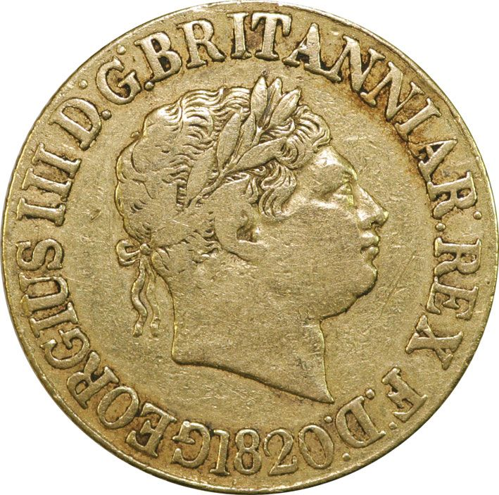 George III 1817-20 Gold Sovereign in Fine Condition