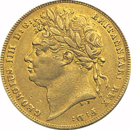 George IV First Type Gold Sovereign 1821-25 in EF