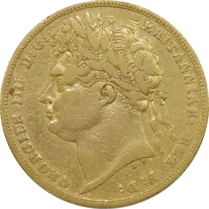 George IV Gold Sovereign 1821-25 in Fine to Very Condition