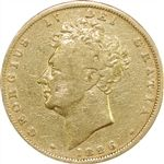 George IV Sovereign 1825-1830 in Fine Condition