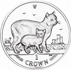 I.O.M 2012 Uncirculated Cat Crown