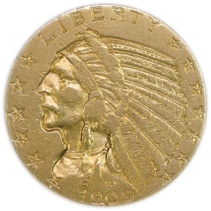 Indian Head Five Dollar 1908 - 1929