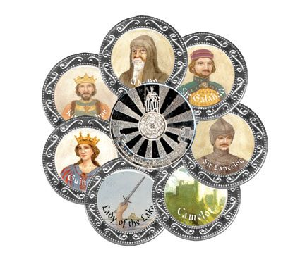 King Arthur & the Round Table Medallion set