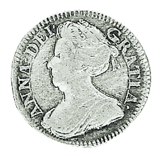 Queen Anne 1702 - 1714 Silver Threepence in Fine to Very Fine Condition