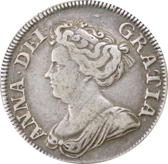Queen Anne Silver Shilling 1702-14 Plain type