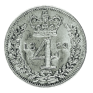 Royal Maundy Queen Victoria 1838 - 1887 Fourpence