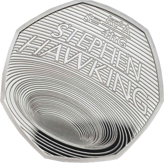 Stephen Hawking 2019 Silver Proof Royal Mint 50p