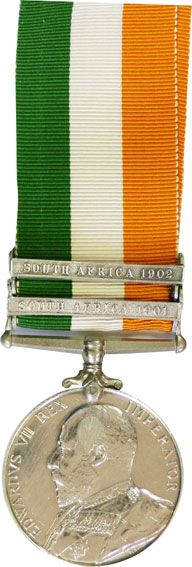 THE KINGS SOUTH AFRICAN MEDAL 1901-1902 THE BOER WAR