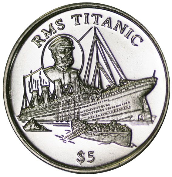 Titanic Crown 5 Dollar 1998