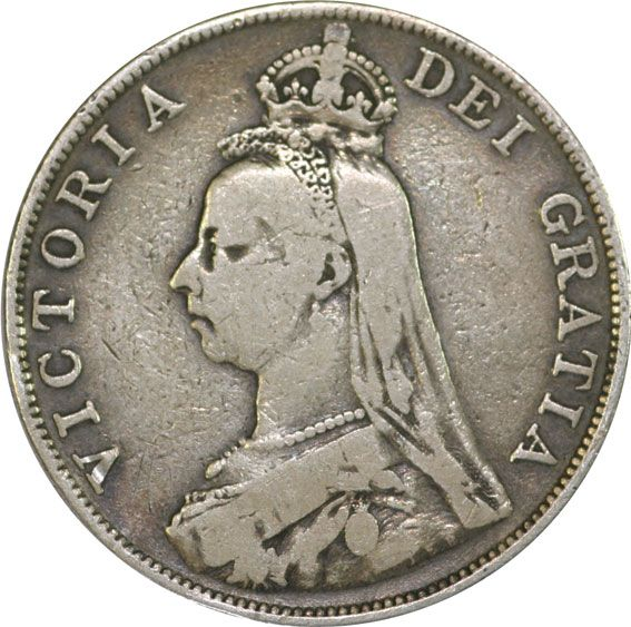 Victoria Double Florin 1887-1892 Fine/Very Fine Condition